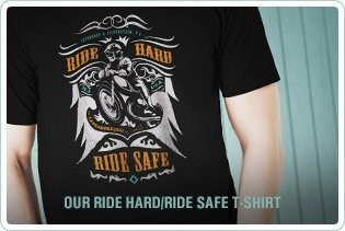 Ride Hard Ride Safe Lependorf & Silverstein Motorcycle T-shirt