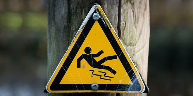 Slip and Fall Sign